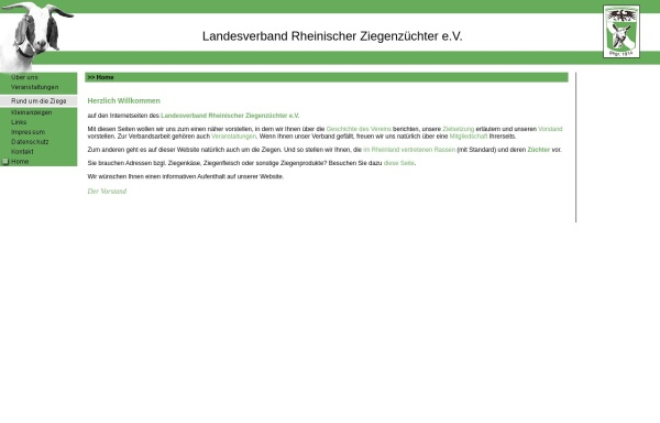 Vorschau von www.ziegenzucht-rheinland.de, Landesverband Rheinischer Ziegenzüchter e.V.