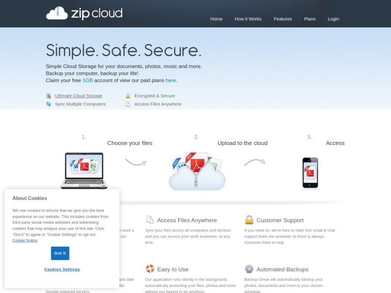 ZipCloud screenshot