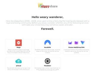 Capture d'écran pour zippyshare.com