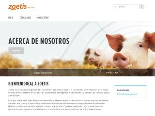 Captura de pantalla para zoetis.com.bo