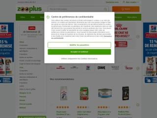 Capture d'écran pour zooplus.fr