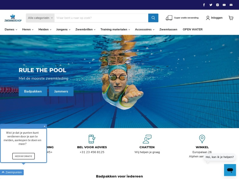 Zwemmershop.nl screenshot