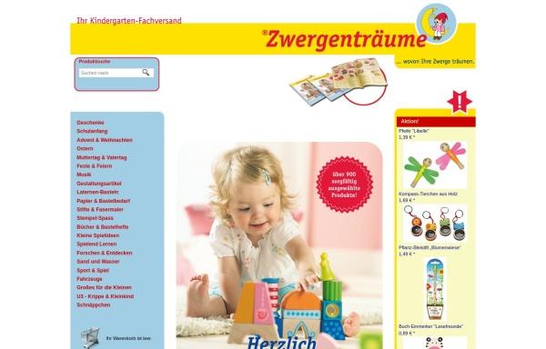Vorschau von www.zwergentraeume.de, Zwergenträume Spielwaren Vertriebs GmbH