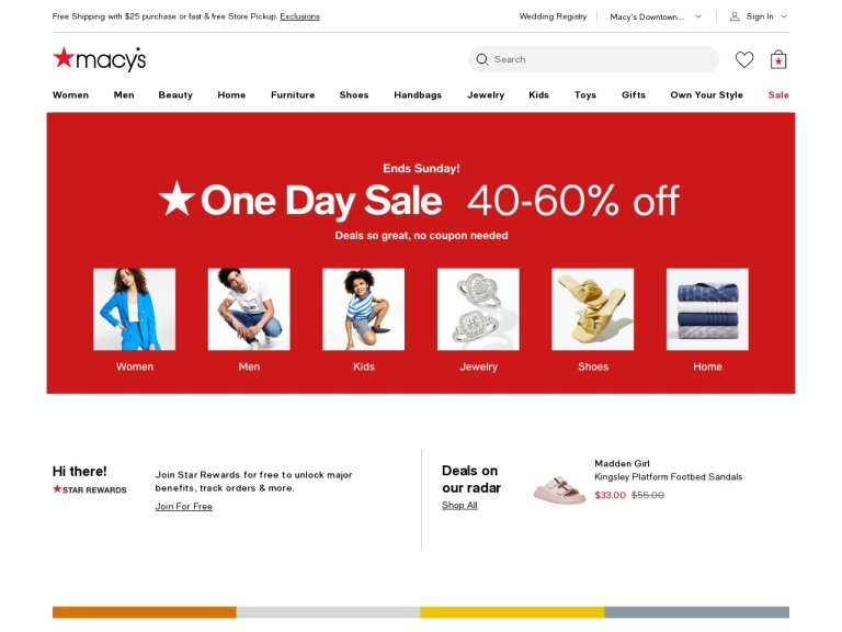 Macys.com screenshot
