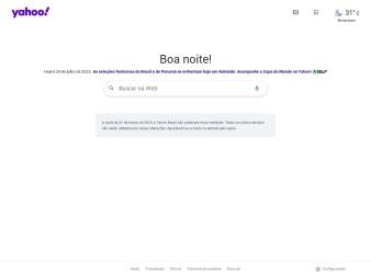 yahoo.com.br screenshot