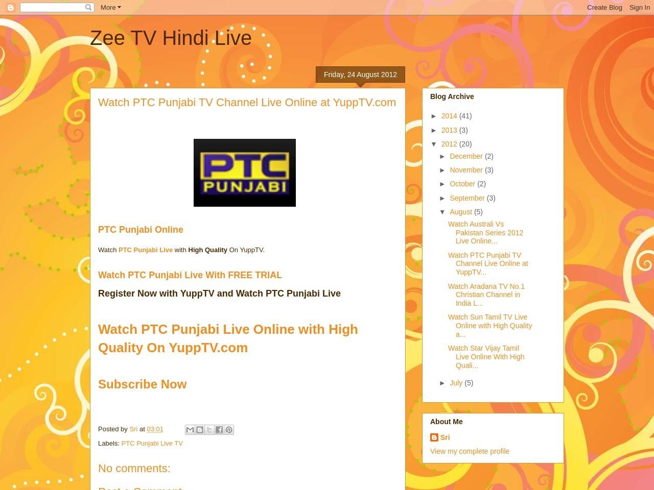 Zee TV Hindi Live: Watch PTC Punjabi TV Channel Live Online at …