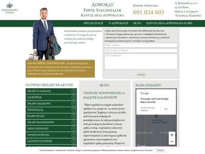Adwokat Paweł Stachniałek - Adwokat Iława. Kancelaria Adwokacka Iława