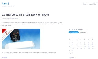 Leonardo to fit SAGE RWR on MQ-9