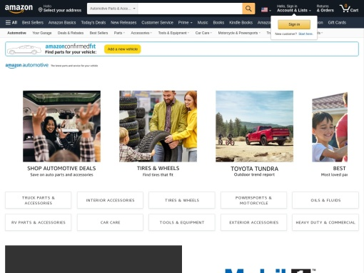 Amazon Parts and Accessories screenshot