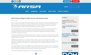ARSA Honors Gilligans Public Service with Weston Award