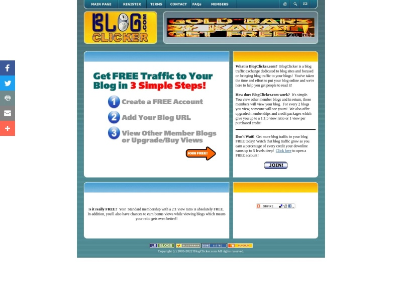 BlogClicker - Blog Traffic Exchange