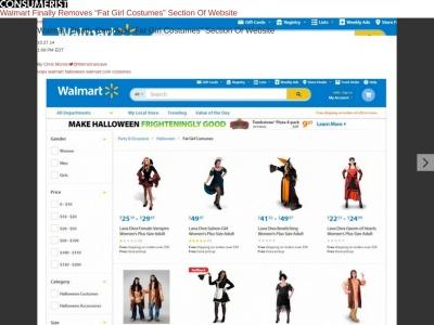 Walmart no longer catering to Fat Girls