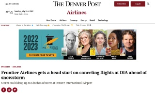 Frontier Airlines gets a head start on canceling flights at DIA ahead