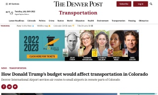How Donald Trumps budget would affect transportation in Colorado