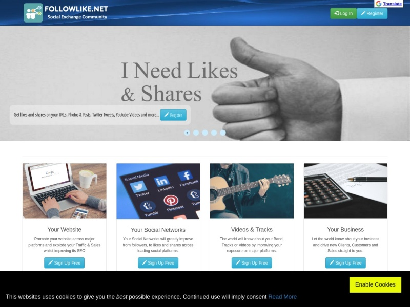 FollowLike - Social Exchange Community