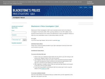Blackstones Police Investigators :: Welcome