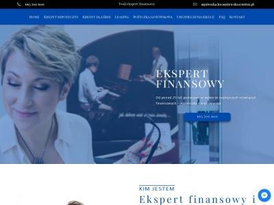 Kredyt Hipoteczny Kielce - Doradztwo Finansowe - Agnieszka Kwaśniewska