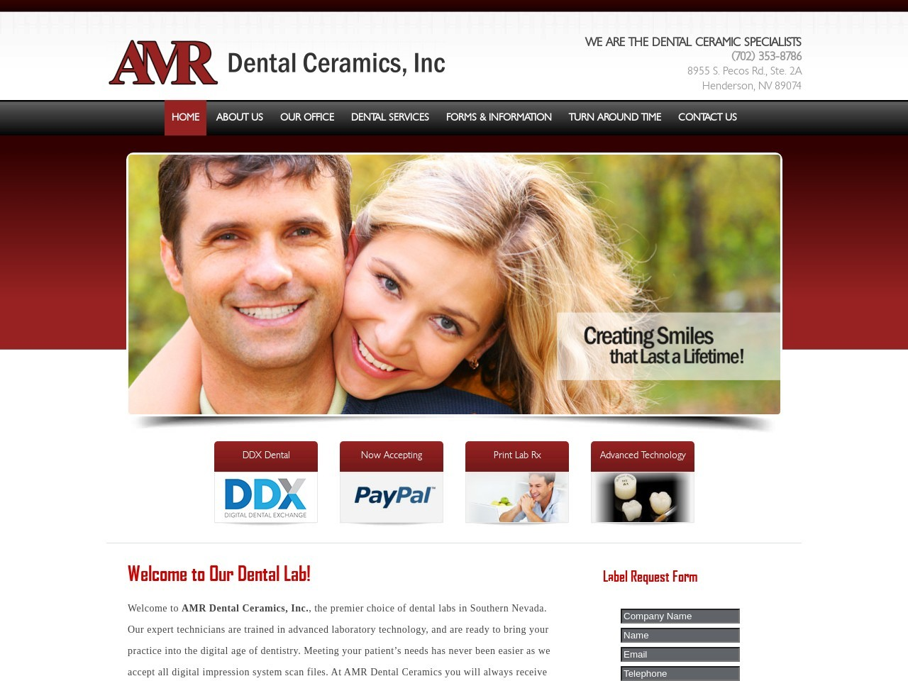 Example of a Red Dental Website