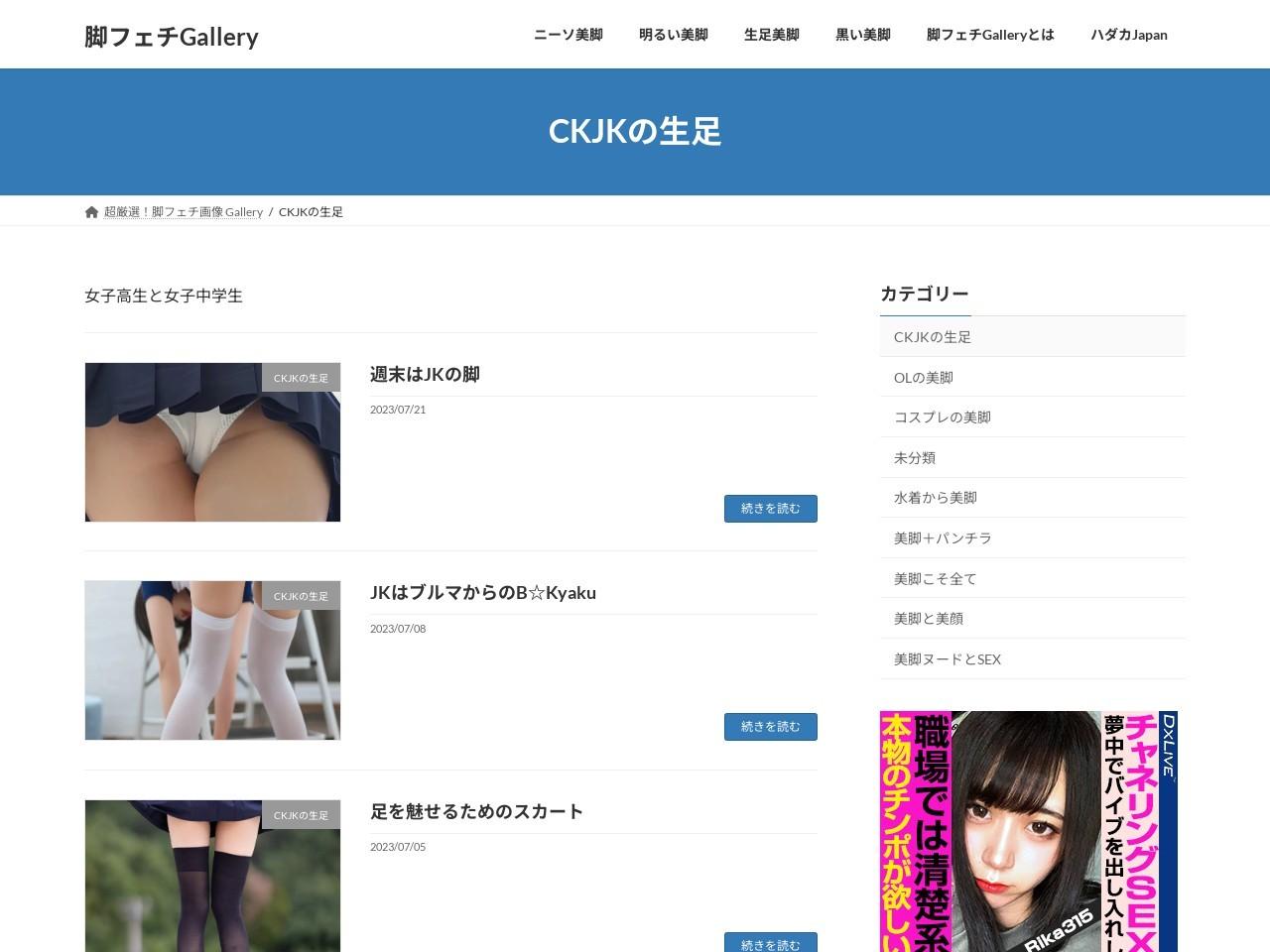 外部サイト:脚フェチギャラリー 女子高生・女子中学生