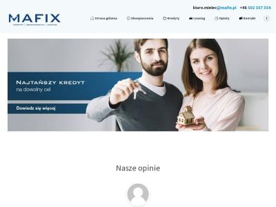 Mafix | Kredyty | Ubezpieczenia | Leasing