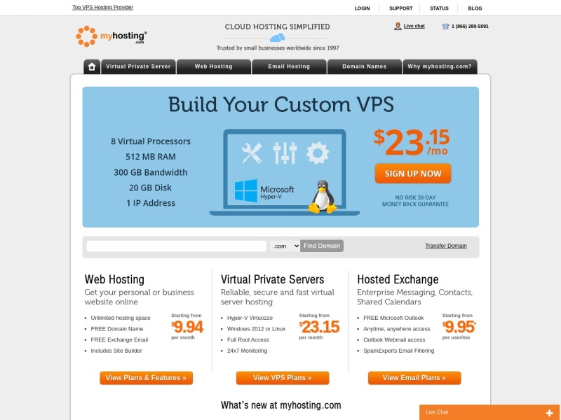 VPS Hosting, Virtual Servers and Hosted Exchange