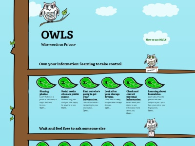 Screenshot of OWLS: Wise Words on Privacy