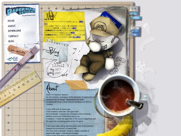 PAPERMAN RETURNS - ペーパークラフト制作・設計