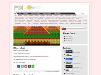 PDRomsサイトのスクリーンショット