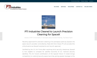PTI Industries Cleared to Launch Precision Cleaning for SpaceX
