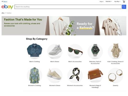 ebay Fashion screenshot