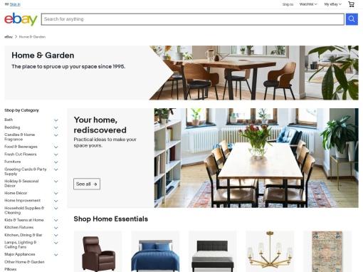ebay Home and Garden screenshot