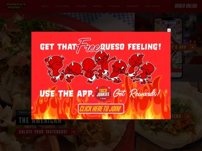 screenshot of Torchys Tacos's homepage