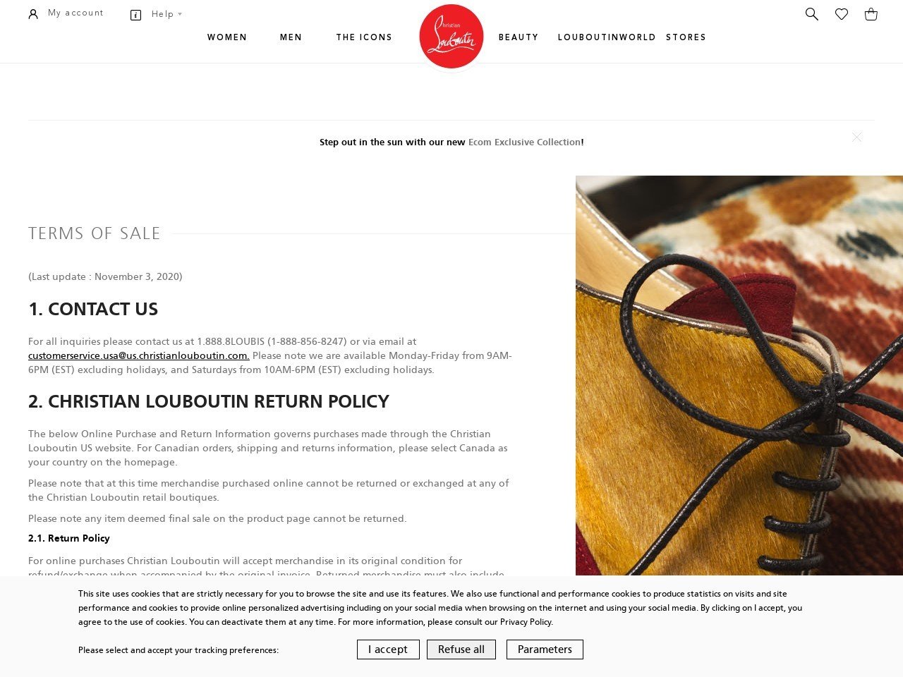Term of sales - Christian Louboutin United States Online ...