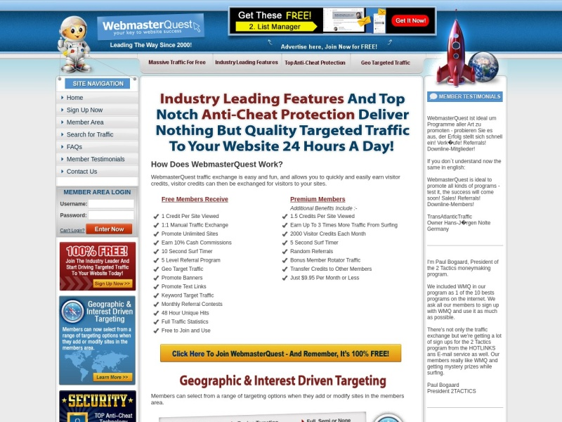 Quality Targeted Traffic To Your Website 24 Hours A Day