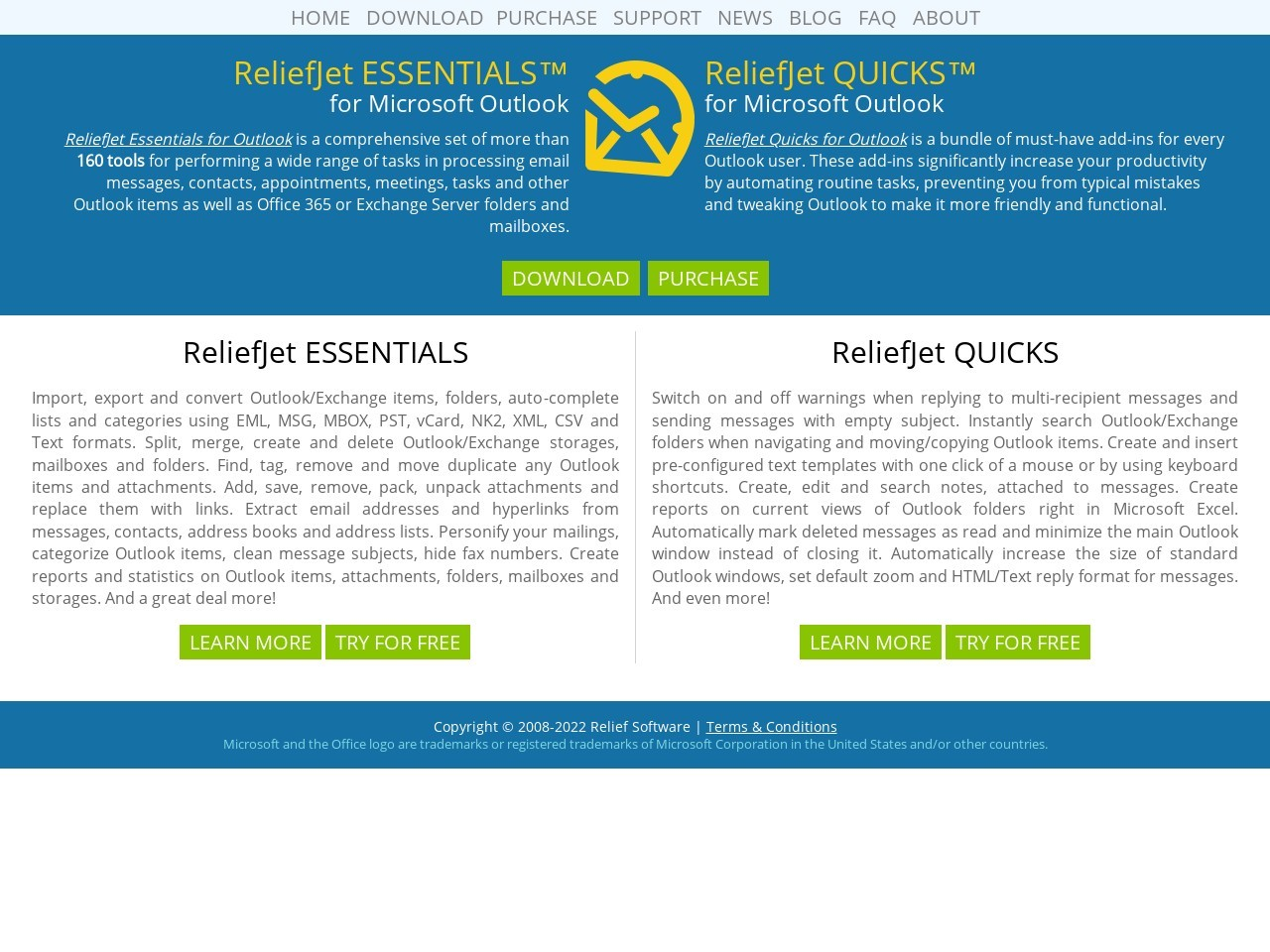 ReliefJet Essentials, ReliefJet Quicks