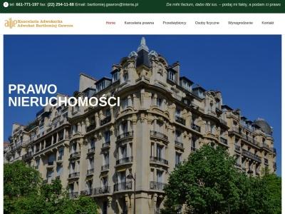 Adwokat WARSZAWA , SPADEK, ROZWÓD Kancelaria Adwokacka Bartłomiej Gawron