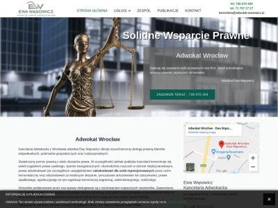 Adwokat Wrocław ZADZWOŃ 726 670 454 Kancelaria Adwokacka Wąsowicz