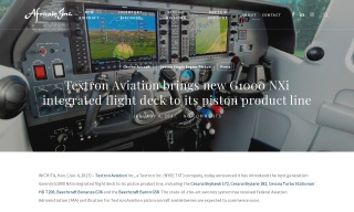 Textron Aviation brings new G1000 NXi integrated flight deck to its pi