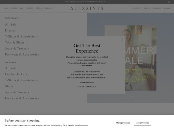 All Saints Fresh Fashion 50% Sale