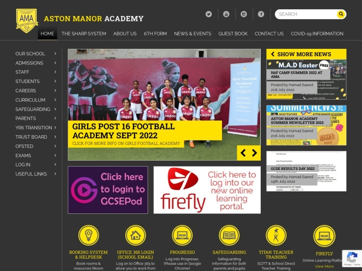 Aston Manor Academy reviews and contact