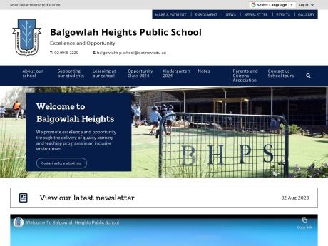 Balgowlah Heights Public School Website