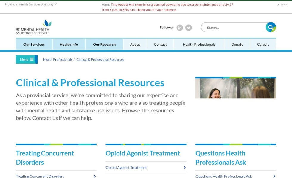 BC Mental Health & Substance Use Services