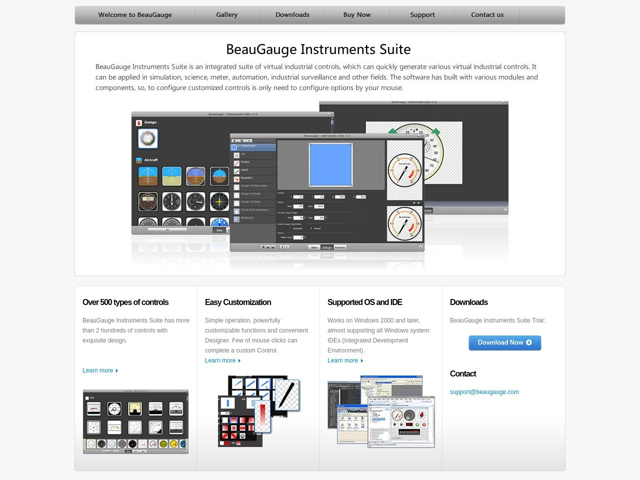 Special 15% BeauGauge Instruments Suite 7.x (3 Developer License) Voucher Sale