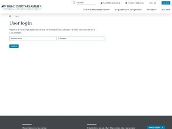 Login | Bundesnotarkammer