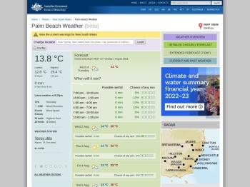 Palm Beach Weather - Bureau of Meteorology