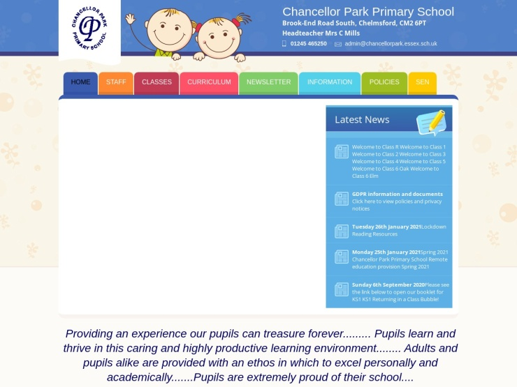 Chancellor Park Primary School, Chelmsford reviews and contact