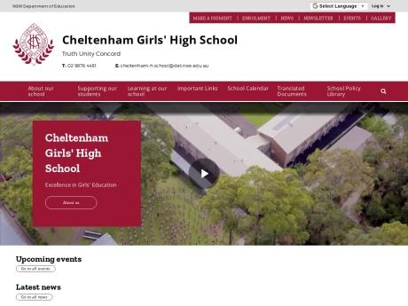 Cheltenham Girls High School Website