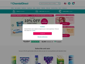 Chemist Direct 55% Summer Sale