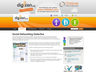 Screenshot of Social Networking Detective