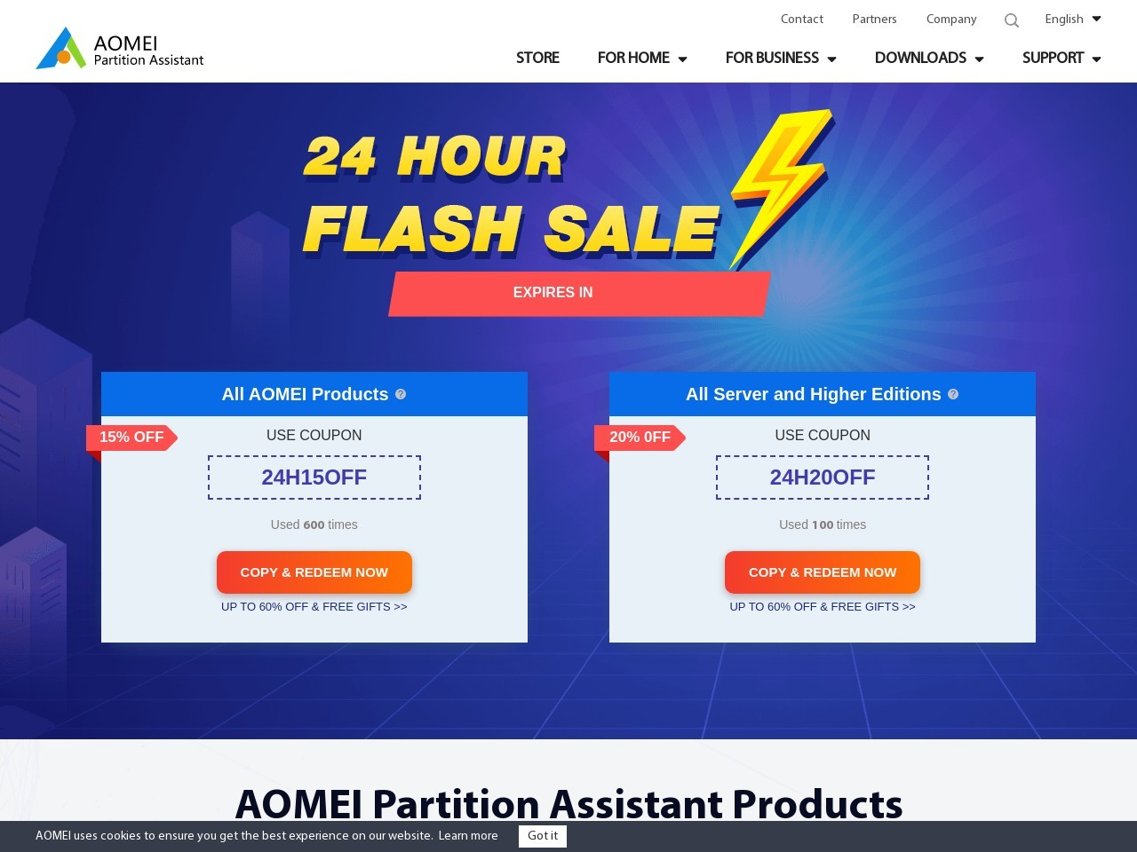 AOMEI Partition Manager Software